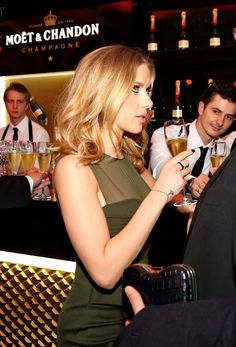 Step 5:......Scarlett Johansson at the gala celebrating 250 years of Moët & Chandon in Moscow, October 4th
