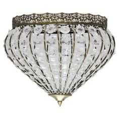 My bedroom ! Alfred Pendant With Clear Beads Shade