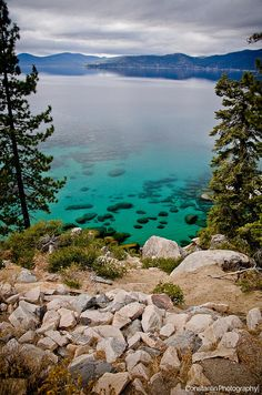 Lake Tahoe. Went summer of 2014. Just as gorgeous as in this picture.