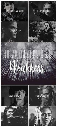Demons in our minds The 100 // Clarke Griffin // Bellamy Blake // Octavia Blake // Raven Reyes
