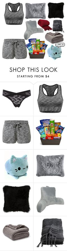"""Blanket/Pillow fort and movie night with Tay"" by jeanie-boyd ❤ liked on Polyvore featuring Charlotte Russe, MANGO, Junk Food Clothing, Pier 1 Imports, Natural by Lifestyle Group, Elements and H&M"