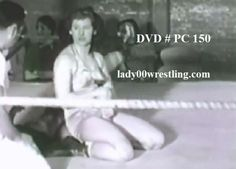 DVD of vintage 50s women girl pro wrestling www.lady00wrestling.com