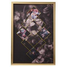 Living & Co Sorrento Framed Art Flora Foil 40cm x 60cm x 2cm