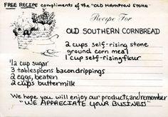 recipe cornbread old hampton store