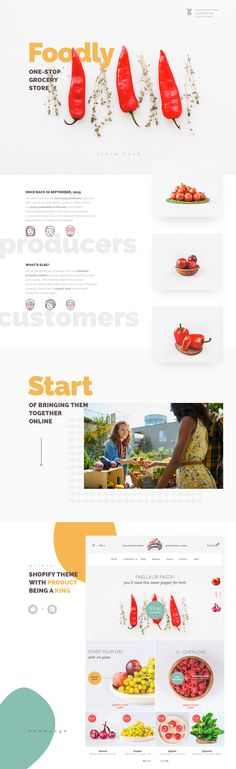 Foodly Template - #ui #ux #userexperience #website #webdesign #design #minimal #minimalism #art