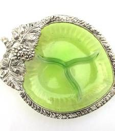 Buy Glass Serving Tray - small : Green home-acccessory online, Buy home-acccessories online Antique Jewellery Online, Quirky Home Decor, Serving Bowls, Fashion Jewelry, Tray, Tableware, Glass, Green, Stuff To Buy