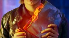 Can he burn the book of nightmares?