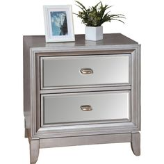 Corral bedside essentials in effortless style with this nightstand, a perfect accent to your master suite or guest room ensemble. Glam Bedroom, Bedroom Dressers, Bedroom Colors, Diy Bedroom Decor, Master Bedroom, Master Suite, Girls Bedroom, Bedroom Ideas, Bedroom Table