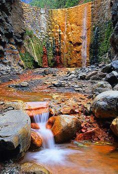 ♥ Cascade of Colors, Isla de La Palma, Canary Islands, Spain
