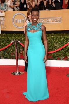 Lupita Nyongo - 20th Annual Screen Actors Guild Awards in LA 18 January 2014 in Gucci Gown