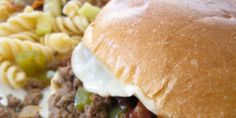 Philly Cheesesteak Sloppy Joes. Man pleasing meal & super easy!