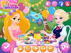 Help Rapunzel organize a fabulous garden party by playing Disney Princesses Tea Party! Tea Party Games, Disney Princesses, Disney Characters, Princess Tea Party, Hey Girl, Elsa Frozen, Games For Girls, Fun Games, Rapunzel