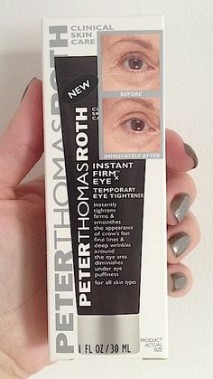 Skincare Review, Before/After Photos: Peter Thomas Roth FIRMx Eye Temporary Under Eye Tightener