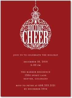 Hot Holiday Party Invites: Wedding Stationery Wednesday