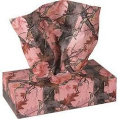 Pink Camo Tissues 150 Count by Rivers Edge 3 ply facial tissues in Fall Transition Camo - choose Green or Pink. 150 tissues per self dispense camo box. Pink Mossy Oak, Mossy Oak Camo, Purple Rooms, Pink Purple, Tissue Box Covers, Tissue Boxes, Camo Rooms, Pink Camo Hoodie, Camo Dress