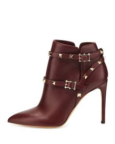 Valentino - Rockstud Harness Ankle Boot