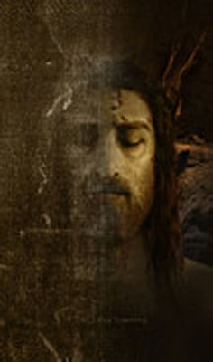The Holy Face of Jesus: Jesus' Image from Shroud of Turin by Ray Downing.  Link to the show... if you want to skip directly to the image ( you need to watch the show to see how much effort went into finding the image ) then go to 1hour 27 minutes and watch as Jesus comes alive.  AMAZING.. https://www.youtube.com/watch?v=WNJPJ4JwHeE