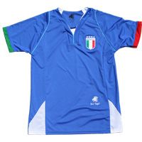This Italia Jersey is made of quick dry and breathable fabric. It is comfortable and easy to take care of. ITALIA Blue Jersey Italy Soccer Shirt <br />Made of 100% Performance polyester, this is a high quality jersey that has embroidered patch. This jersey runs true to size.