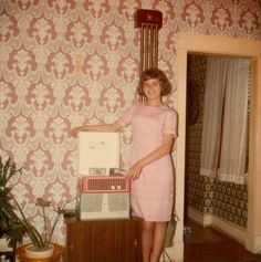 New record player, c. 1960.