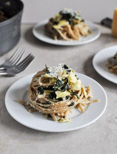 spinach and artichoke linguine from @How Sweet Eats
