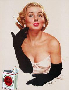 Tobacco retro advertising