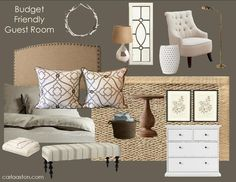 DESIGNED by Carla / Furnished by YOU!   An Affordable, Comfortable Guest Bedroom — DESIGNED w/ Carla Aston