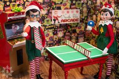 THE ELF ON THE SHELF~Elves playing ping pong by A Little of This That