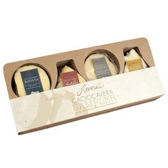 Artisan Cheese sampler gift box by Lovera's