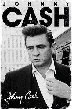 Johnny Cash - signature plakát, obraz