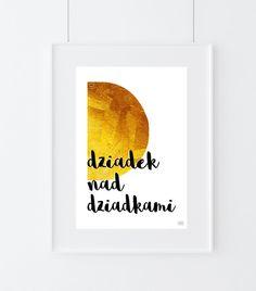 Plakat do samodzielnego wydruku, Dziadek A4 w by Agata Winer na DaWanda.com