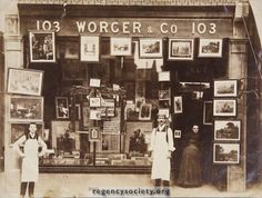 Archive photo of photograph of 103 George Street, Hove, at some time during the The business started here in 1890 and remained until Vintage Photographs, Vintage Photos, The Wealth Of Nations, Brighton And Hove, England And Scotland, The Old Days, East Sussex, Historical Photos, Old Photos