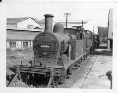 https://flic.kr/p/9aEoxH | Bath Green Park 1959 | 0P 0-4-4T 58086 on the oil road. The loco was here for a year before being withdrawn in July 1960.  Behind are a 2P, a Black 5 and a Std 5, with a 4F and a Jub or another Black 5 on the Boat Road in the distance.  On summer saturdays there was a problem findung room to stable the locos while waiting for the return workings  (One of 4 prints passed on to me)
