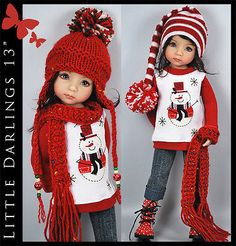 Santas-Helper-Outfit-for-Little-Darlings-Effner-13-by-Maggie-Kate-Create. Ends 10/3/14. SOLD for $98.00