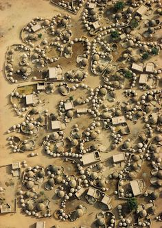 Aerial view of Labbezanga near the Mali-Niger border, 1972 by Georg Gerster Aerial Photography, Landscape Photography, Extreme Photography, Photography Flowers, Photography Ideas, Afrique Art, Vernacular Architecture, Urban Architecture, Aerial Images