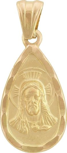 14K Gold Reversible Lady of Guadalupe /& Sacred Heart of Jesus Charm Pendant