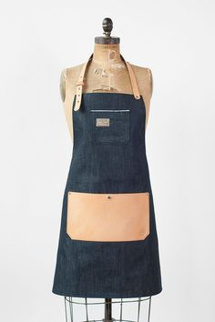 Selvedge Denim & Leather Apron Made in U.S.A. by AmericanNative