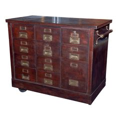 American industrial metal cabinet for filing with inset campaign