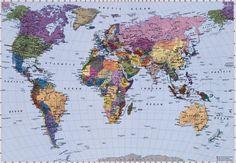 Fotobehang 4-050 Komar De wereldkaart