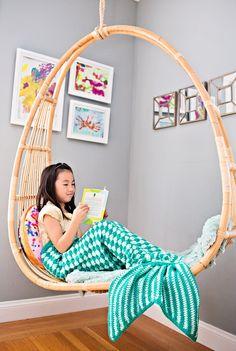 MINT TEAL -  Kids Mermaid Crochet Tail Blanket, Mermaid Tail Kids, Crochet Mermaid Blanket, Crochet Blanket, Knit Blanket, Kids Blanket