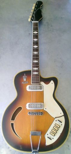 1962 Welson Italian archtop Guitar --- https://www.pinterest.com/lardyfatboy/