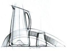 product by Michael DiTullo at Coroflot.com Sketch Design, My Design, Graphic Design, Basic Sketching, Black And White Sketches, Industrial Design Sketch, Sketchbook Inspiration, Environmental Design, Bottle Design