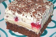 Himbeer – Schoko – Schnitten Raspberry – chocolate – cuts, a tasty recipe from the category of cakes. Italian Cookie Recipes, Italian Desserts, Baking Recipes, Cake Recipes, Dessert Recipes, Italian Pastries, Raspberry Recipes, Blueberry Desserts, Lemon Desserts