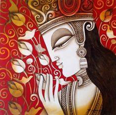 "Krishna II Code :1642Size :20"" x 20""Medium :Acrylic on CanvasINR: 24,000"