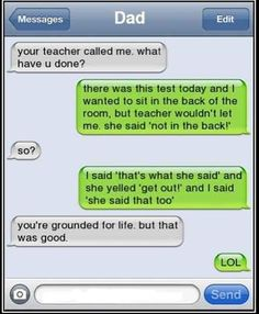 totally grounded for life but funny Funny Shit, Haha Funny, Funny Jokes, Funny Stuff, Funny Dad, Funny Texts To Parents, Mum Jokes, Funny Drunk Texts, Funny Text Fails