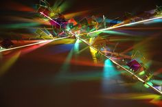 """""""Cross of Light"""" Christ Lutheran Church, Anderson, IN 2005<br /> Dichroic glass, Xenon light. H 9' Detail"""