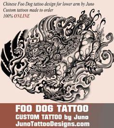 chinese dog tattoo, fu dog tattoo, japanese lion tattoo, juno tattoo designs