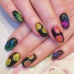 neon nail art designs 2016