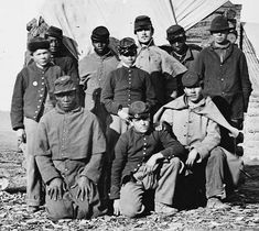 """""""Soldier Group"""" is all the Library of Congress caption says. ~ follow the link to the source. There is an interesting discussion about who these young men might be. Not many clues though."""