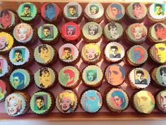 Fifties icon cupcakes.