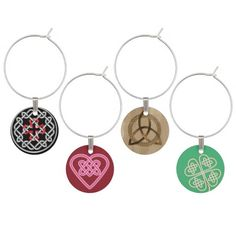 Celtic Wine Charm Set. Express your own individuality!